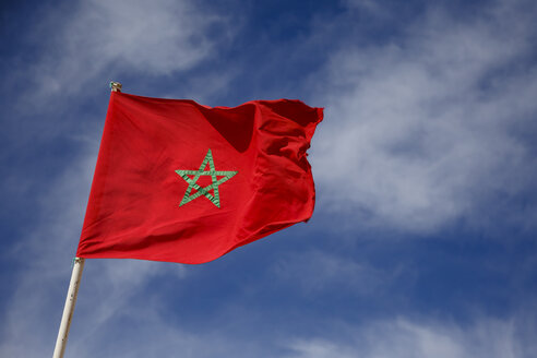 Morocco, Moroccan Flag in the sky - STDF000144