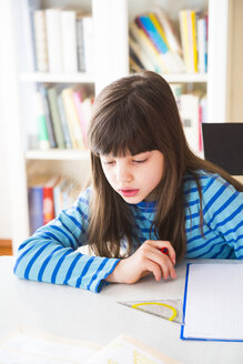 Girl doing homework - LVF002969
