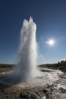 Iceland, Strokkur, geyser at backlight - NH001481