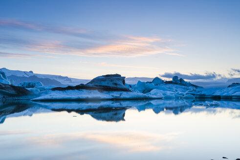 Island, Skaftafell National Park, glacier lagoon Jokulsarlon - NHF001485