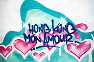 China, Hong Kong, Sheung Wan, graffiti on wall - GEM000097
