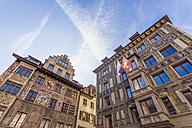 Switzerland, Canton of Lucerne, Lucerne, Old town, Houses at Hirschenplatz - WDF002960