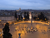 Italy, Rome, Piazza del Popolo, Vatican in background - LAF001346