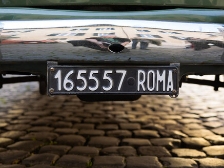 Italy, Rome, Old licence plates of Rome - LA001354