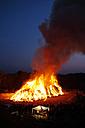 Germany, Bavaria, Landsberied, Easter bonfire, fire - GNF001323