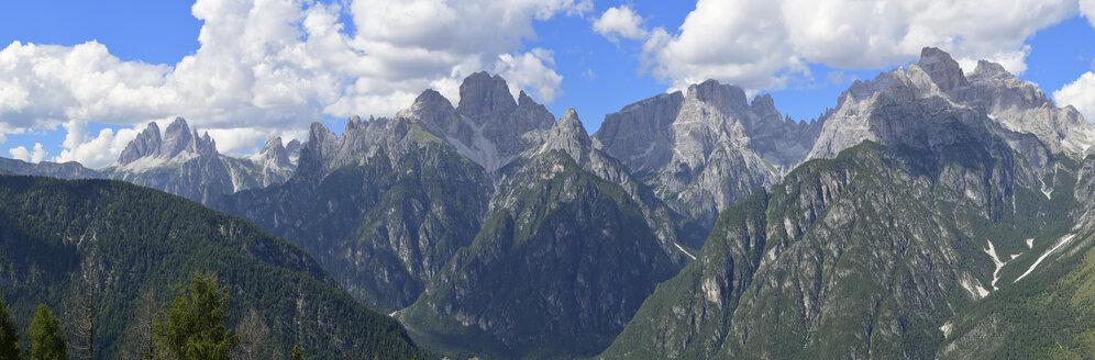 Italy, Dolomites, Sextener Dolomites from Monte Agudo - RUEF001528