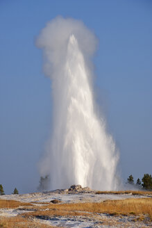 USA, Wyoming, Yellowstone National Park, Old Faithful Geyser erupting - RUEF001565