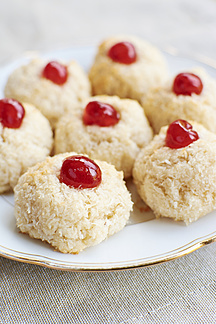 Coconut Macaroons Garnished With A Candied Cherry Hawf000723 Harald Walker Westend61