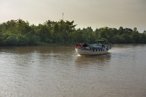 Vietnam, Mekong, freight ship at Mekong Delta - JWAF000259