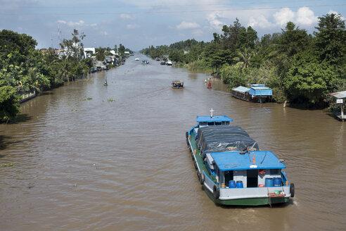 Vietnam, Mekong, freight ship at Mekong Delta - JWAF000261
