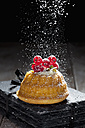 Mini Gugelhupf filled with ricotta and cream cheese garnished with red currants - CSF024937