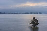 Germany, Baden-Wuerttemberg, Radolfzell, Lake Constance, Sculpture El Nino by Ubbo Enninga - KEB000045