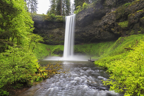 USA, Oregon, Silver Falls State Park, South Falls - FOF007837