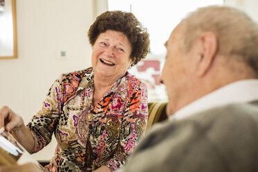 Happy senior couple at home - UUF003561