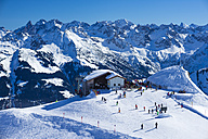 Austria, Vorarlberg, Little Walser Valley, Mountain Station of  Hahnenkoepflebahn - WGF000626