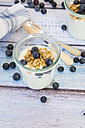 Yogurt with granola and blueberries - LVF003055