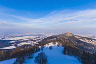 Germany, Baden-Wuerttemberg, View to Hohenzollern Castle in winter - WDF002989