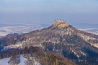 Germany, Baden-Wuerttemberg, View to Hohenzollern Castle in winter - WDF002992