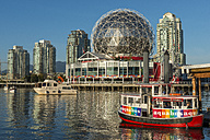 Canada, British Columbia, Vancouver, Aquabus on False Creek with Science World - KEB000041