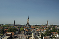 Netherlands, Delft, view to old town with Nieuwe Kerk - CHPF000111