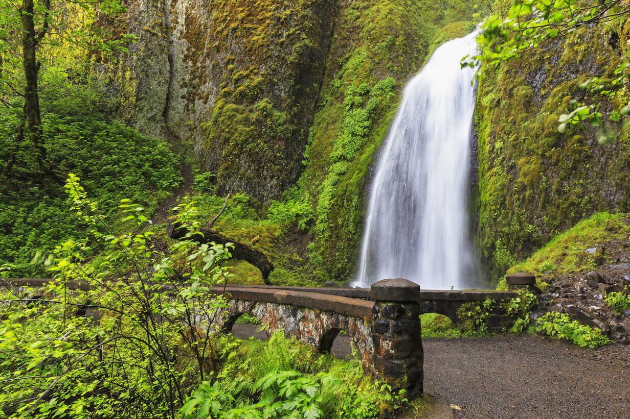 USA, Oregon, Multnomah County, Columbia River Gorge, Wahkeena Falls - FOF007901 - Fotofeeling/Westend61