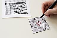 Hand drawing Zentangle heart - CMF000233