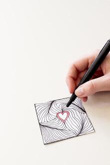 Hand drawing Zentangle heart - CMF000238