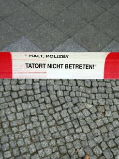 Germany, Berlin, cordoned crime scene - JM000326