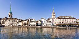Switzerland, Zurich, River Limmat, Fraumuenster Church and St. Peter Church, Panorama - WDF003027
