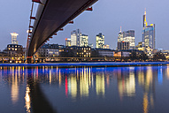 Germany, Frankfurt, city view at twilight - KEBF000092