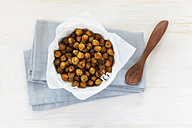 Roasted chickpeas in bowl - EVGF001478