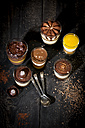 Glasses with different sorts of desserts - MAEF010172