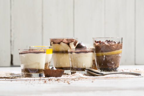 Glasses with different sorts of desserts - MAEF010177