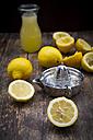 Freshly squeezed lemon juice,  lemon squeezer - LVF003181