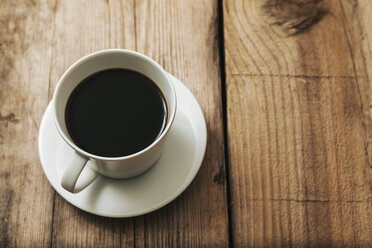 Cup of black coffee on wood - BZF000120