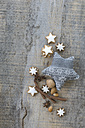 Cinnamon stars, spices, nuts and Christmas decoration - ASF005541