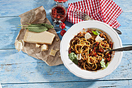 Plate of Spaghetti Bolgnese and ingredients - CSF025284