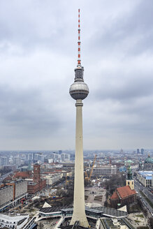 Germany, Berlin, television tower at Alexanderplatz - VTF000407
