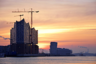 Germany, Hamburg, Elbphilharmonie at dawn - BRF001162