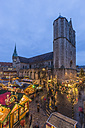 Germany, Lower Saxony, Brunswick, Christmas market in the evening - PVCF000391
