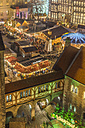 Germany, Lower Saxony, Braunschweig, Christmas market in the evening - PVCF000393