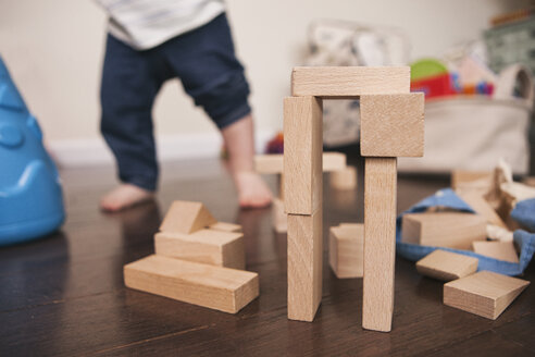 Building block creation with child in the background - SELF000028