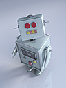 Robot looking up, 3D rendering - UWF000428