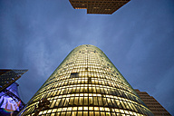 Germany, Berlin, Bahn Tower at Potsdamer Platz by night - PCF000151