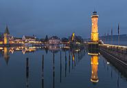 Germany, Lake Constance, harbor entrance in Lindau - KEBF000128