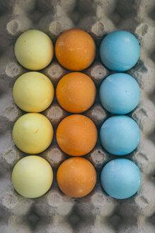 Coloured Eatser eggs in egg carton - ASCF000118
