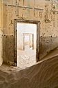 Namibia, inside a house of diamond ghost town Kolmanskop - CLPF000110