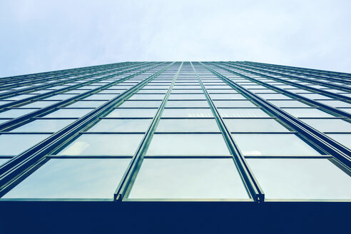 Germany, Dortmund, glass facade of an office building - HOHF001337