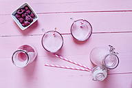 Raspberry smoothie on pink ground - SBDF001780