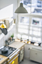 Blurred view of a kitchen in sunlight - RIBF000038